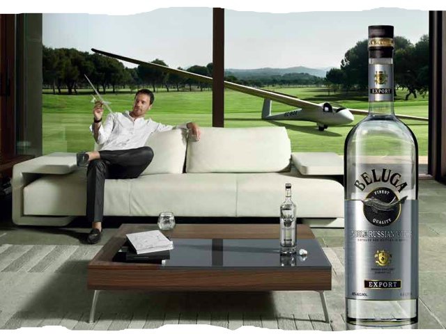 Самолеты и водка, в рекламе и жизни