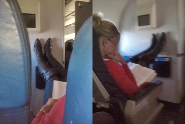 На сеновале в салоне самолета