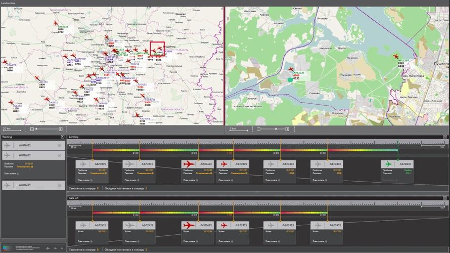 Регулирование потоков в московском авиационном узле