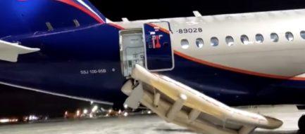 прошли контрольные проверки выпуска аварийных надувных трапов SSJ100-958 «Аэрофлот», предназначенных для экстренной эвакуации пассажиров