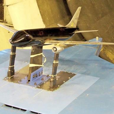 МС-21 в аэродинамической трубе Т-104, ЦАГИ